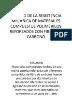 Estudio de La Resistencia Mecánica de Materiales Compuestos