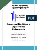 Segunda Entrega de Bioetico y Legales. Araujo Lujan