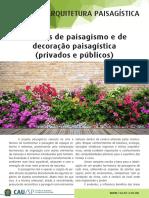 Projetos de Paisagismo e de Decoração Paisagistica V3