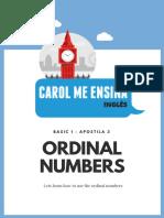3 - Numbers Ordinals