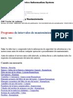 Programa de Intervalos de Mantenimiento de Caterpillar Topadora D6R XL