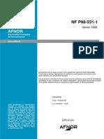 NF P 98-231-1 Proctor Adapté Grave