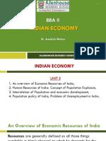 #Indian Economy_Unit II