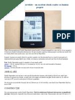 Review Kindle Paperwhite – Un Excelent eBook Reader Cu Lumină Proprie