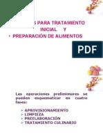 TÉCNICAS PARA TRATAMIENTO INICIAL Y PREPARACIÓN DE ALIMENTOS