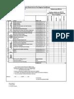 2017 Mechanical Eng Msc Subject Check-list Table