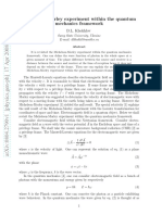 Experimento de Michelson-Morley Dentro Del Marco de La Mecánica Cuántica