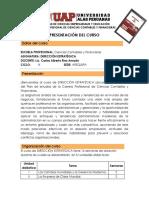 PRESENTACION CURSO Direccion Estrategica Sec01