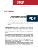 Boletín Morena Resolutivo