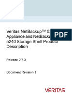 Veritas NetBackup 5240 Appliance and NetBackup 5240 Storage Shelf Product Description