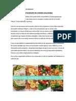 Restaurante de Comida Saludable