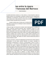 Diferencias Entre La Ópera Italiana y Francesa Del Barroco