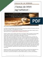 6. Las Fiestas de IHVH - Jag HaMatzot