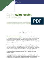 Cut Sales Not Costs