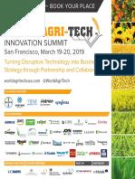 Delegate Brochure World Agri Tech San Francisco 2019