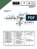 uputsvo za tmotorne testere Partner, p365, p405, 1995-01, Chain Saw