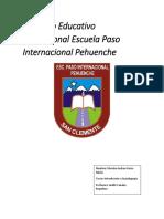 Proyecto Educativo Institucional Escuela P