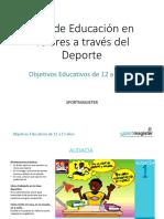 Plan de Educación en Valores a Través Del Deporte