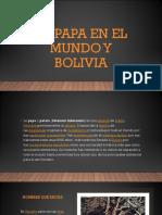 La Papa en El Mundo y Bolivia