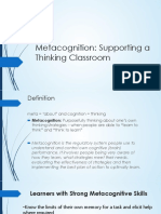 Metacognition Training Ppt