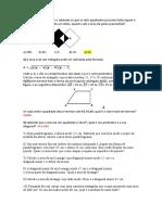 Exercico de Matemática Prova 01