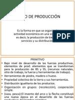 1) Modo de Producción