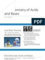 Chemistry of Acids and Bases