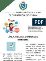 Areas de Intervención en El Area de Orientación