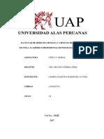 Trabajo Academico Uap 2017 - Etica y Moral