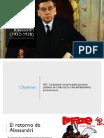 El Segundo Gobierno de Alessandri (1932-1938)