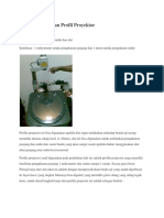 Jurnal Pengukuran Profil Proyektor