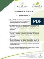 Reglamentación Uso Salón Social (2)