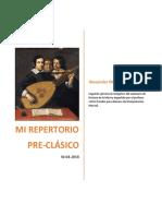 Repertorio pre clásico para Guitarra Clásica