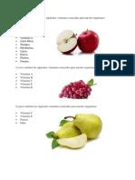 Frutas y Sus Vitaminas