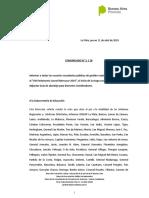 COMUNICADO N° 2 - Guía de abordaje PJM 2019