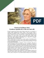 Charla de Sol Blanco Soler, Estudiosa española de la vida en el más allá (2012)