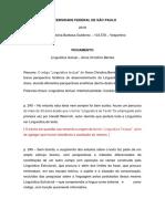 Fichamento Linguítica textual