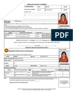 Admit Card 2nd Ishu