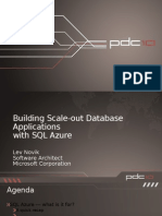 Building Scale-Out Database Solutions on SQL Azure