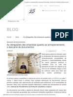 As Obrigações Das Empresas Quanto Ao Armazenamento e Descarte de Documentos - Guarda de Documentos _ Empresa Acervo