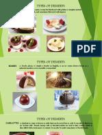Types of Desserts