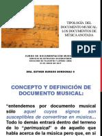 TIPOLOGÍA DEL DOCUMENTO MUSICAL