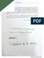 Danza en La Escuela - Estructura Conceptual de La Danza.