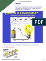 Qué Es La Electricidad