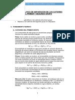 Marcha Analtica Cationes Del 1er y 2do Grupo