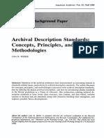 Archival Description Standards- Concepts, Principles, And Methodologies