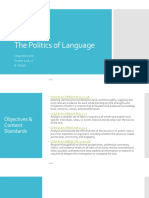 politics of language- ppt