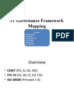 IT Governance Framework Mapping