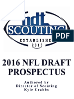 NDT Scouting 2016 NFL Draft Prospectus
