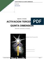 Activación del tercer ojo, la quinta dimensión